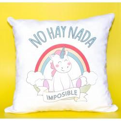 """Cojín """"no hay nada imposible"""""""